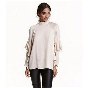 H&M conscious collection ruffle top